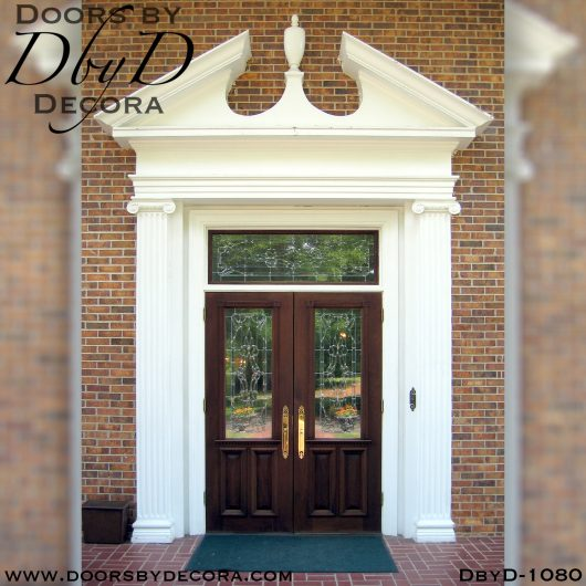 leaded glass1080a - leaded glass front door entry - Doors by Decora