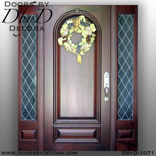 solid door and sidelites