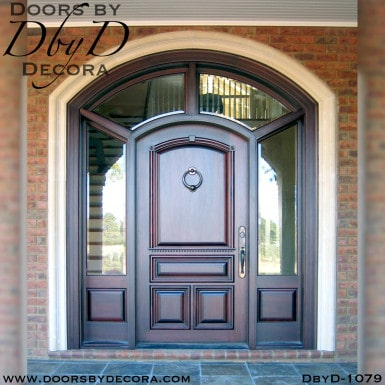 solid front door and sidelites