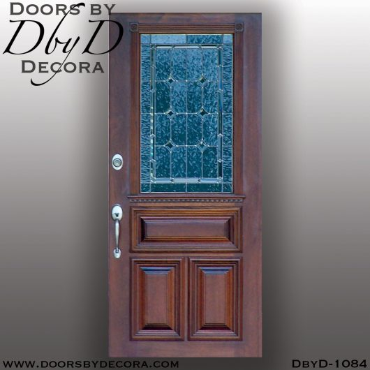 leaded glass1084a - leaded glass and wood door - Doors by Decora