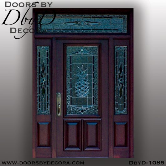 leaded glass1085a - leaded glass pineapple door - Doors by Decora
