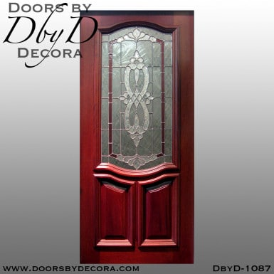 leaded glass entry door