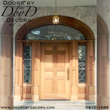 leaded glass colonial exterior entry