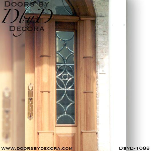 solid door colonial exterior entry
