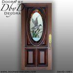 leaded glass mallard door