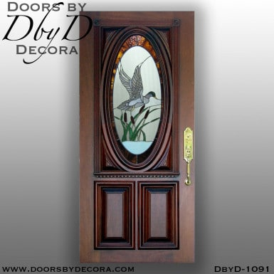 leaded glass mallard door