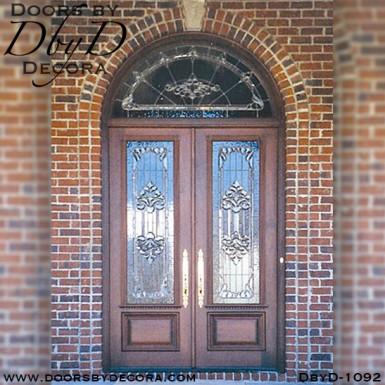 estate leaded glass double door entry