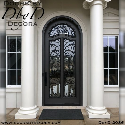 french country iron grill door