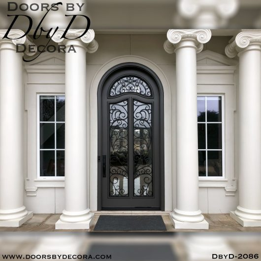 dbyd2086a - french country iron grill door - Doors by Decora