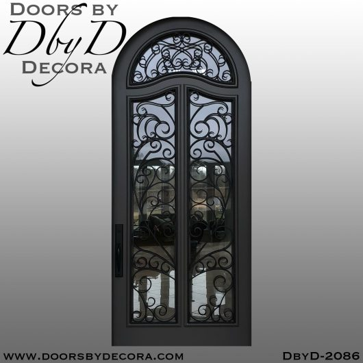 dbyd2086d - french country iron grill door - Doors by Decora