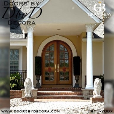 french country lion doors