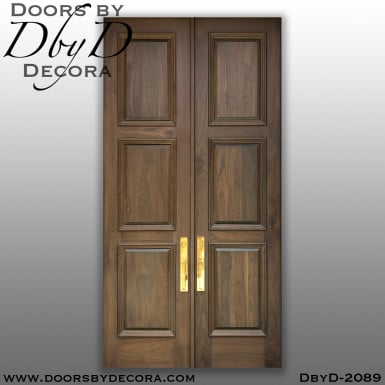 french country 3-panel solid doors