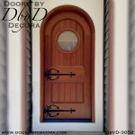 old world radius style door