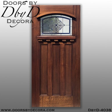 craftsman glass and wood door