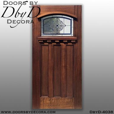 craftsman glass and wood door