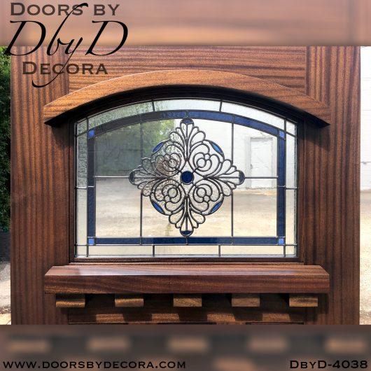 dbyd4038a - leaded glass and wood craftsman door - Doors by Decora