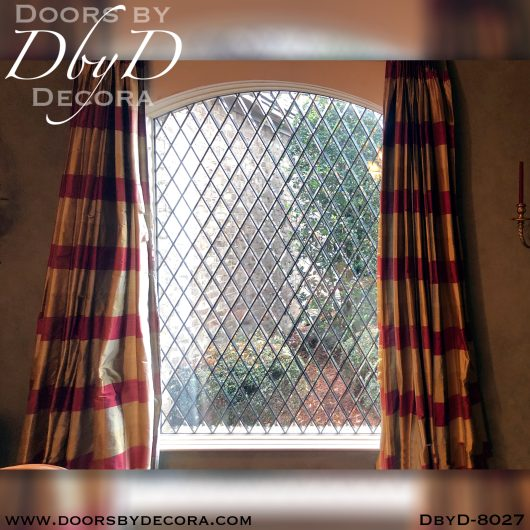stained glass diamond beveled window