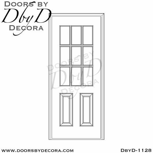 divided lite1128a - divided lite 9 lite TDL door - Doors by Decora