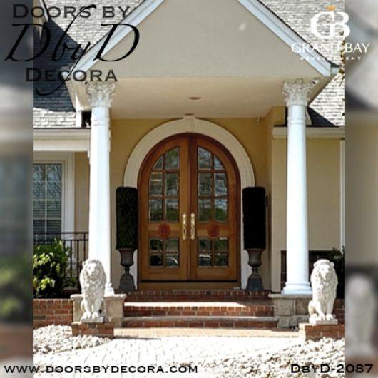 divided lite lion doors
