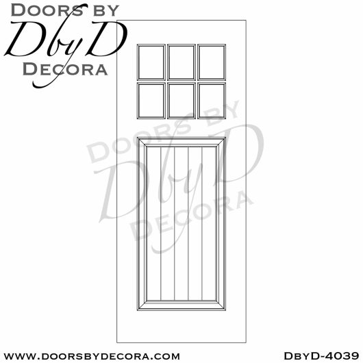 divided lite 6-lite tdl door