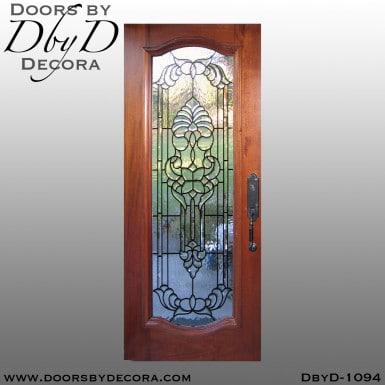 leaded glass full lite glass door