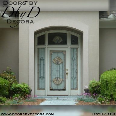 leaded glass shell door