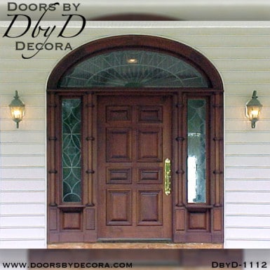 leaded glass colonial door