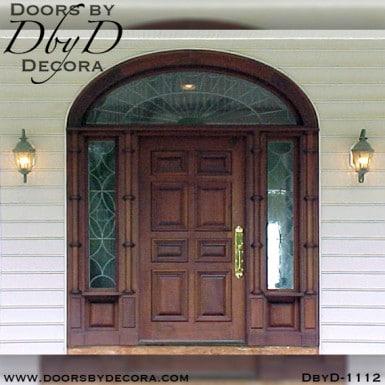 leaded glass colonial door