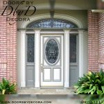leaded glass painted colonial door