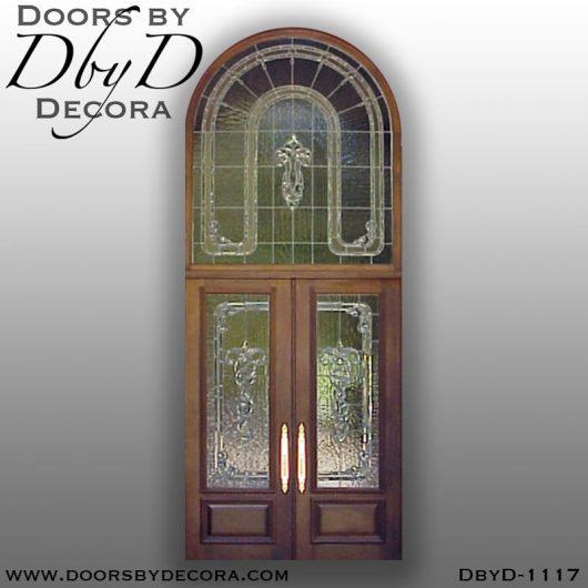 leaded glass1117b - leaded glass custom entrance - Doors by Decora