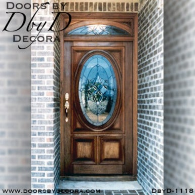 leaded glass oval front door