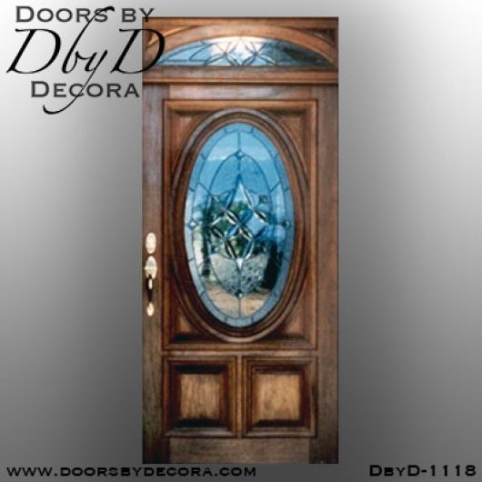 leaded glass1118a - leaded glass oval front door - Doors by Decora