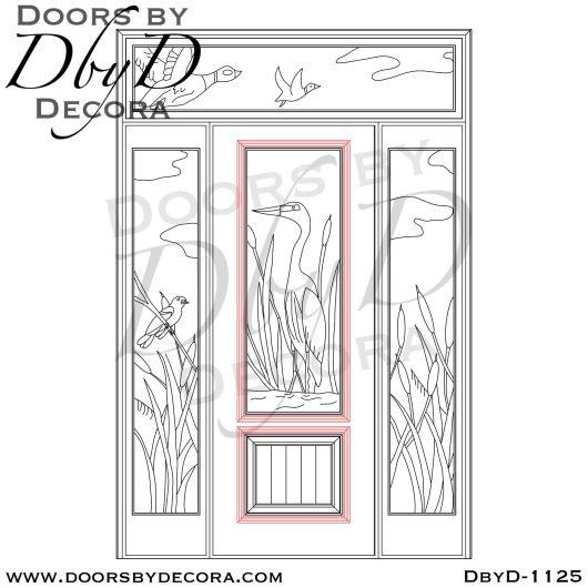 leaded glass custom door