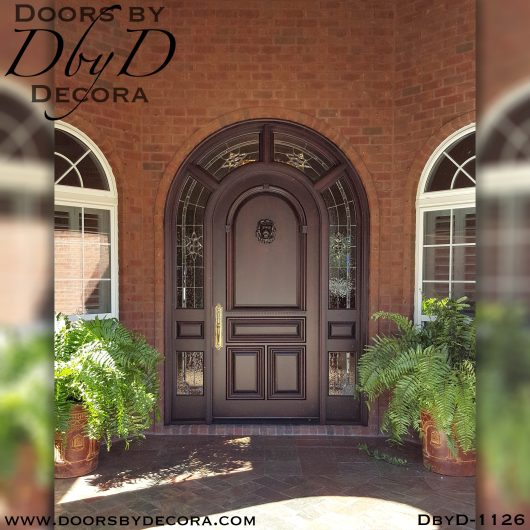 leaded glass1126a - leaded glass and wood entry - Doors by Decora
