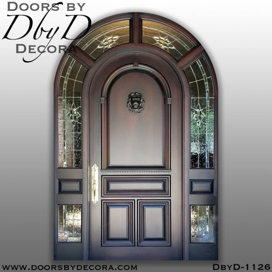 leaded glass1126b - leaded glass and wood entry - Doors by Decora