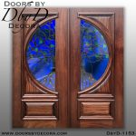 leaded glass tree doors