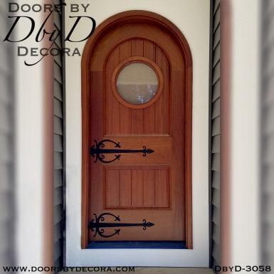rustic radius style door