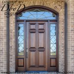 solid door sidelites with transom