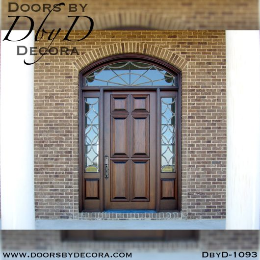 solid door1093a - solid door sidelites with transom - Doors by Decora