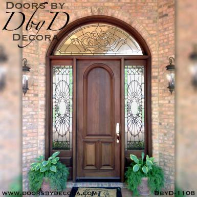 solid door front door with glass