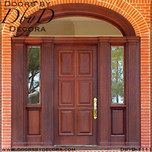 solid door colonial entry