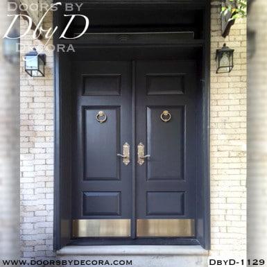solid door wood double doors