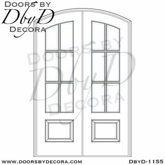 dbyd1155d - estate 6-lite tdl doors - Doors by Decora