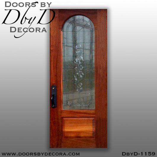 estate leaded glass single door
