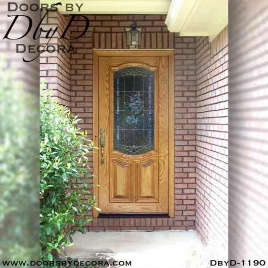 dbyd1190a - estate lilac leaded glass door - Doors by Decora