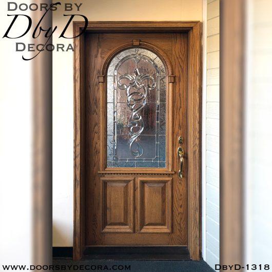 estate leaded glass oak front door
