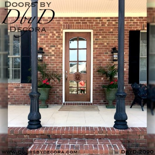 dbyd2090a - french country lion head glass door - Doors by Decora