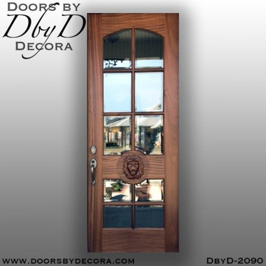 dbyd2090d - french country lion head glass door - Doors by Decora