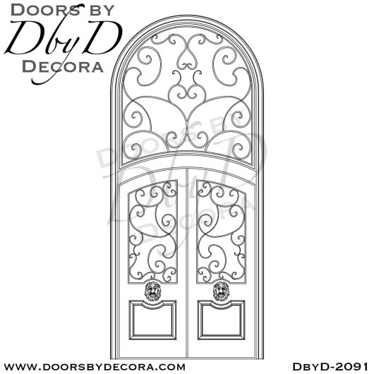 french country lion head entry doors