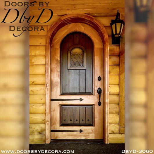 old world two tone wood door